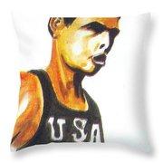 Richard Fosbury Throw Pillow