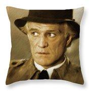 Richard Harris, Vintage Actor Throw Pillow