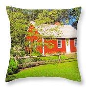 Richard Hunnewell House, Scarborough Maine Throw Pillow