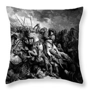 Richard I The Lionheart In Battle At Arsuf In 1191 1877 Throw Pillow