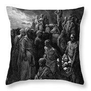 Richard I The Lionheart Massacres Captives In Reprisal 1877 Throw Pillow