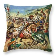 Richard The Lionheart During The Crusades Throw Pillow by Peter Jackson