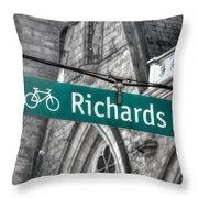 Richards Street Throw Pillow