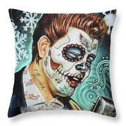 Richie Valens Day Of The Dead Throw Pillow