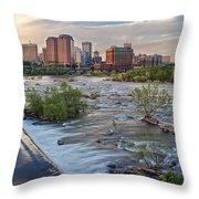 Richmond Evening Skyline I Throw Pillow
