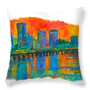 Richmond Gold  Throw Pillow