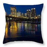 Richmond Night Skyline Throw Pillow