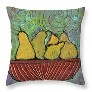 Richmond Pears Throw Pillow