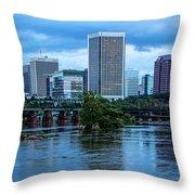 Richmond Skyline In Early Night 11888 Throw Pillow