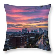 Richmond Sunset Libby Hill Throw Pillow