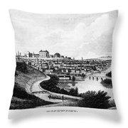 Richmond, Virginia, 1856 Throw Pillow