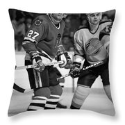 Rick Vaive Throw Pillow