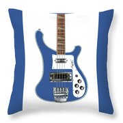 Rickenbacker Bass 4001 Body  Throw Pillow