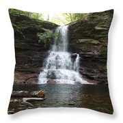 Ricketts Glen Waterfall Throw Pillow