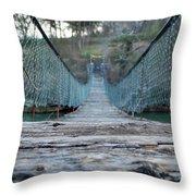 Rickety Bridge Throw Pillow