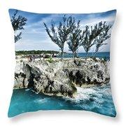 Rick's Cafe Negril Jamaica Throw Pillow