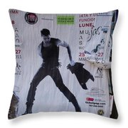 Ricky Martin In Concert Throw Pillow by Anna Villarreal Garbis