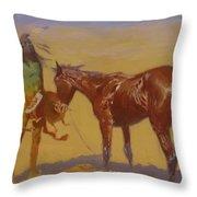 Ridden Down Detail 1906 Throw Pillow