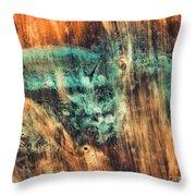 Riddicks World Watercolor Painting Throw Pillow
