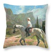 Riding Throw Pillow