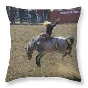 Ride Em Cowboy Throw Pillow