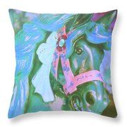 Ride Of Old Blues Throw Pillow