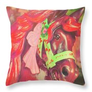 Ride Of Old Pinks Throw Pillow