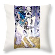 Ride Of The Gladiator Throw Pillow
