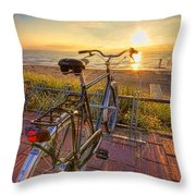Ride Off Into The Sunset Throw Pillow