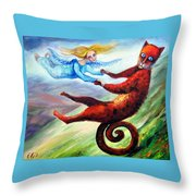 Ride The Tail Throw Pillow