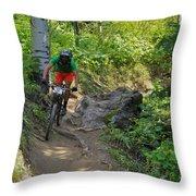 Ride Through The Woods #51 Throw Pillow