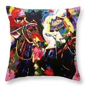 Ride To Glory Throw Pillow