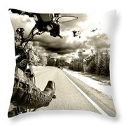 Ride To Live Throw Pillow by Micah May