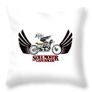 Ride With Passion Cafe Racer Throw Pillow
