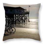 Ride Your Bike To The Beach Throw Pillow