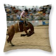 Ridem Cowboy Throw Pillow
