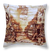 Riders In The Sky Throw Pillow