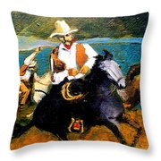 Riders In The Storm Throw Pillow