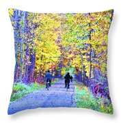 Riders On The Vine Throw Pillow