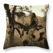 Rides His Horse 3 Throw Pillow