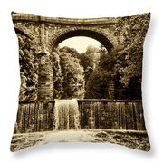 Ridge Avenue Falls Along The Wissahickon Creek Throw Pillow