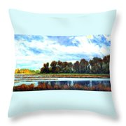 Ridgefield Refuge Early Fall Throw Pillow