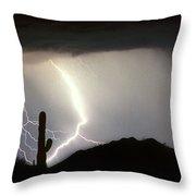 Ridin The  Southwest Desert Storm Out Throw Pillow