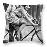 Riding Bike Makes Sexy Throw Pillow