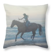 Riding Free Throw Pillow