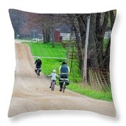 Riding Home Throw Pillow