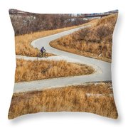 Riding In The City Throw Pillow