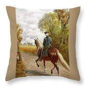 Riding Scene Throw Pillow