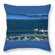 Riding The Crest Throw Pillow