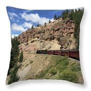 Riding The Cumbres And Toltec Throw Pillow